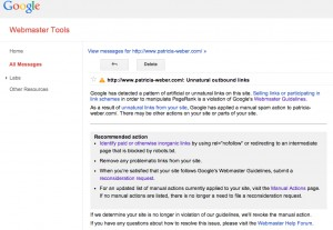 Google penalty unnatural outbound links