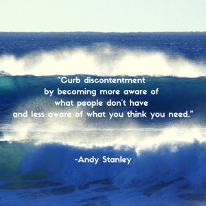 Curb discontentment A Stanley